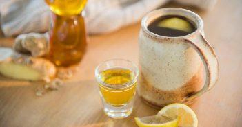 چای زنجبیل عسل لیمو