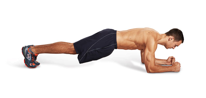 تمرین پلانک برای تقویت عضلات کمر
