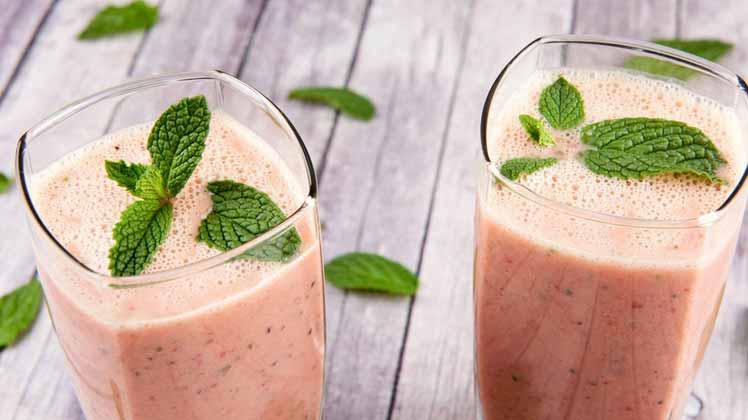 نوشیدنی مخصوص افزایش قدرت دستگاه ایمنی بدن,توت فرنگی، کیوی و نعناع